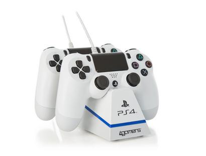 4G-4182WHT Dual Charge 'n' Stand Twin-Controller Ladegerät