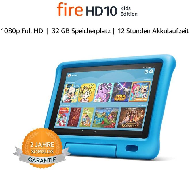 Fire HD 10 Kids Edition 32 GB Tablet 25,6 cm (10.1 Zoll) 2 GHz 2 MP