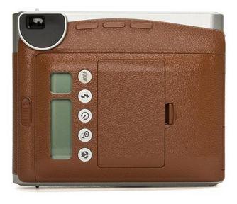 Instax mini 90 Neo Classic  62 x 46 mm Sofortbild Kamera (Braun, Edelstahl)