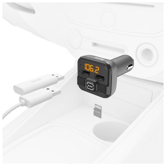 00014164 FM-Transmitter mit AUX-IN + USB-IN