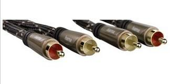 00122291 Audio-Kabel 2 Cinch-St. - 2 Cinch-Stecker Metall vergoldet 0,75 m