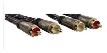 00122292 Audio-Kabel 2 Cinch-St. - 2 Cinch-Stecker Metall vergoldet 1,5 m