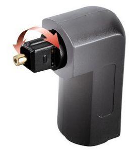 00122363 ODT-Adapter Toslink-Stecker - Toslink-Kupplung vergoldet 90°