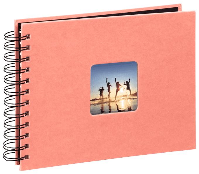 """2643 Spiral-Album """"Fine Art"""" 50 schwarze Seiten 28x24cm Living Coral"""