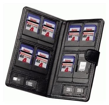 """00095964 Speicherkarten-Tasche """"Vegas"""" Gr.M für 8 SD- und 4 microSD-Karten"""