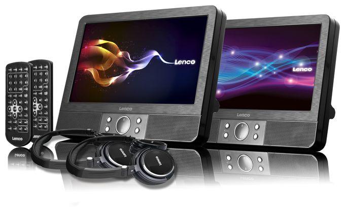 "DVP-9378 2x 9"" TFT-Display mit DVD-Player"
