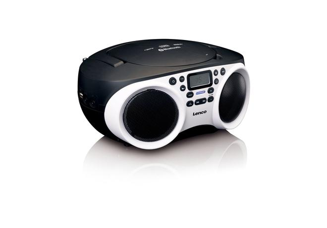 SCD-501 Radio CD/MP3-Player USB, AUX, Bluetooth schwarz/weiß