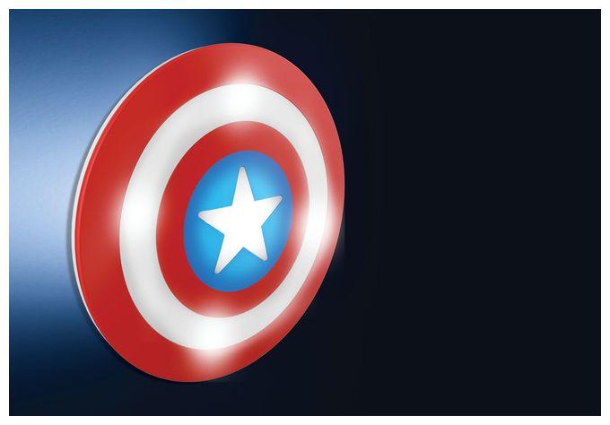 Captain America, mehrfarbig, LED-Wandleuchte