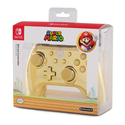 Nintendo Switch Wired Gold Mario Controller Gold