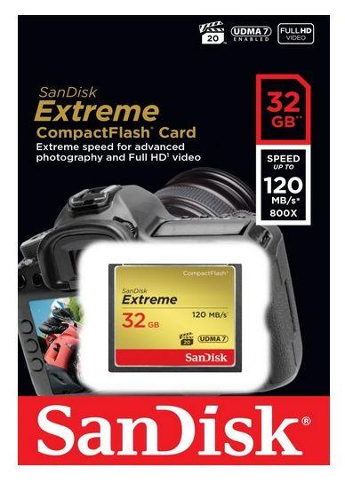 SDCFXSB-032G-G46 Extreme CompactFlash Speicherkarte 32GB