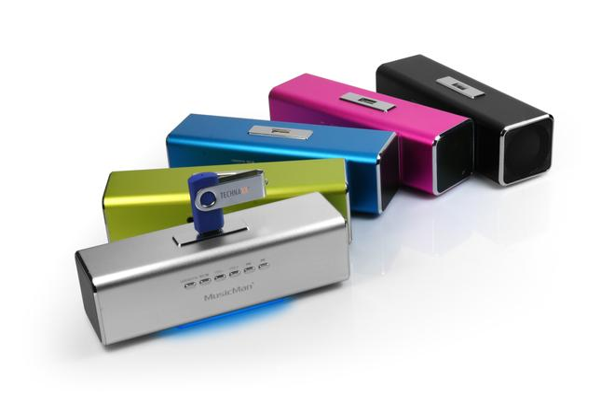 MusicMan MA mobiler Lautsprecher MP3-Player FM-Radio USB