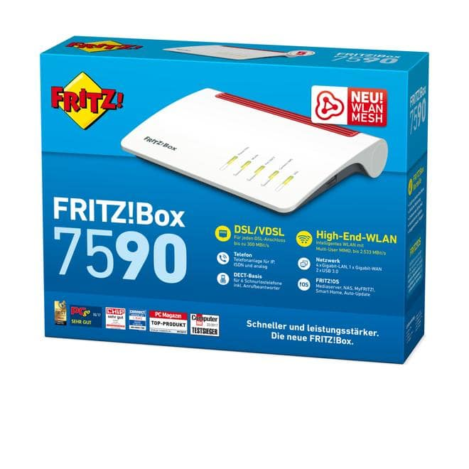 FRITZ!BOX 7590 DSL-Router High-Speed-WLAN mit Multi-User MIMO