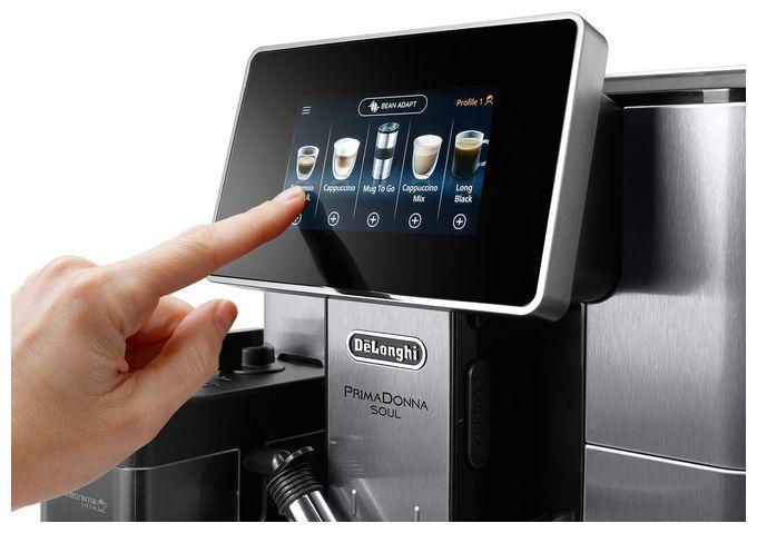 PrimaDonna ECAM610.74.MB Kaffeevollautomat 19 bar 2,2 l 500 g AutoClean (Schwarz, Edelstahl)
