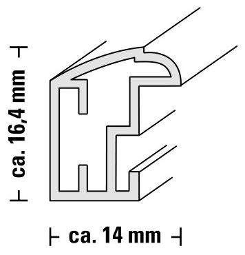 "00067696 Kunststoffrahmen ""Saragossa"" 15x20cm"