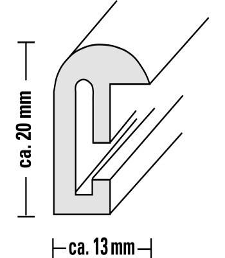 "00066470 Kunststoffrahmen ""Sevilla Dekor"" 50x70cm"
