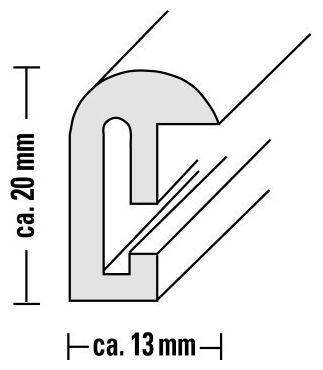 "00066472 Kunststoffrahmen ""Sevilla Dekor"" 60x80cm"