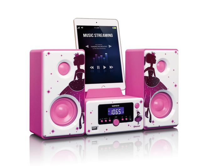 MC-020 Micro-System FM-Radio Bluetooth USB AUX Handy/Tablet-Träger