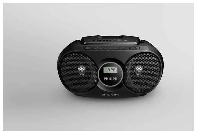 AZ215B/12 CD-Soundmaschine Radiorekorder AUX Shuffle Funktion Schwarz