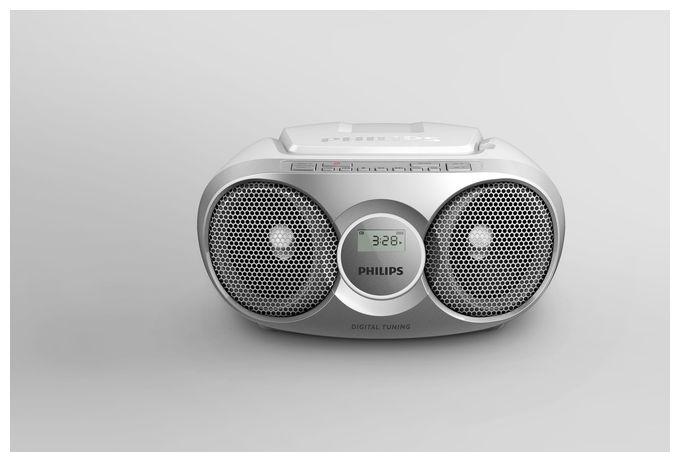 AZ215R/12 CD-Soundmaschine Radiorekorder AUX Shuffle Funktion Silber