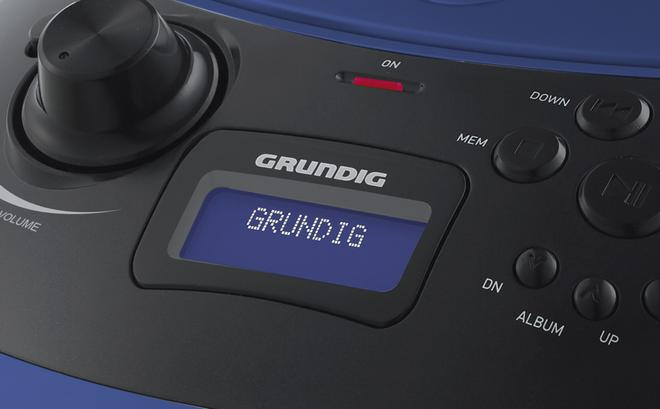 GRB 4000 BT DAB+ Kompaktanlage CD-Player USB Bluetooth Blau, Silber