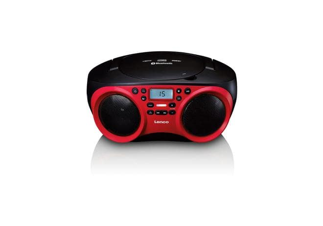 SCD-501 Radio CD/MP3-Player USB, AUX, Bluetooth schwarz/rot