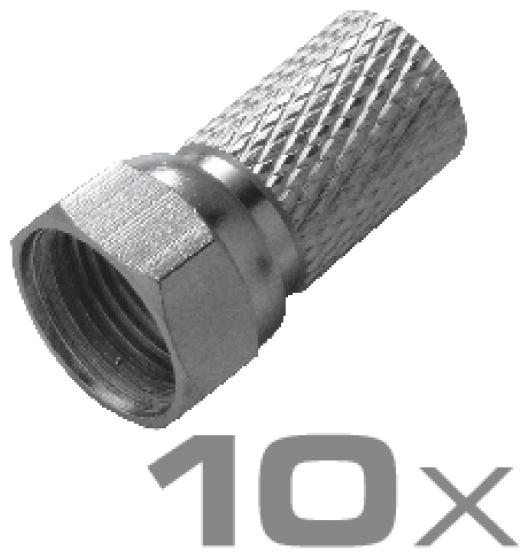 ABISET30 531 Montageset für F-Stecker und Koaxialkabel