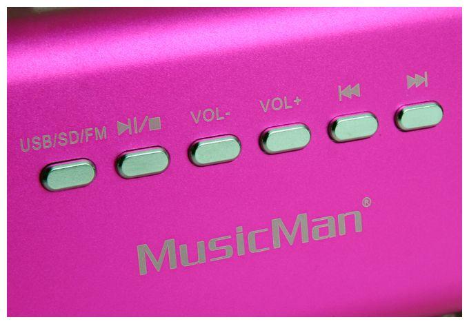 3432 MusicMan MA mobiler Lautsprecher MP3-Player FM-Radio USB