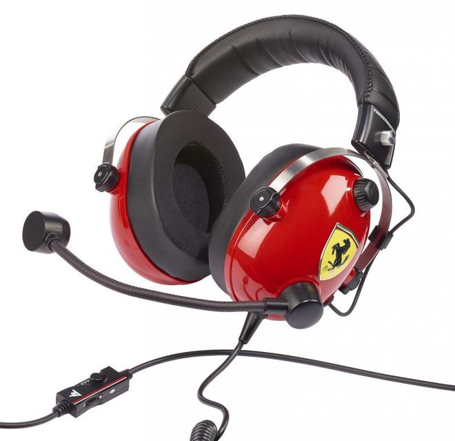 T.Racing Scuderia Ferrari Edition Gaming-Headset Rot