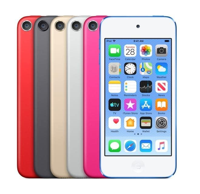 """iPod Touch MP3-Player 128GB 10,16cm/4"""" Bluetooth Silber"""