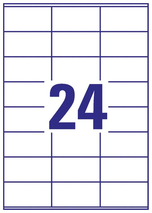 6122 Universal-Etiketten 70x36mm 10 Bogen/240 Etiketten