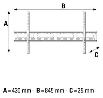 108718 TV-Wandhalterung FIX 1 Stern XL 37-75 Zoll