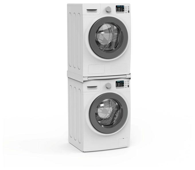 """110223 Zwischenbaurahmen """"Smart"""" mit Ausziehplatte für Waschmaschine/Trockner"""