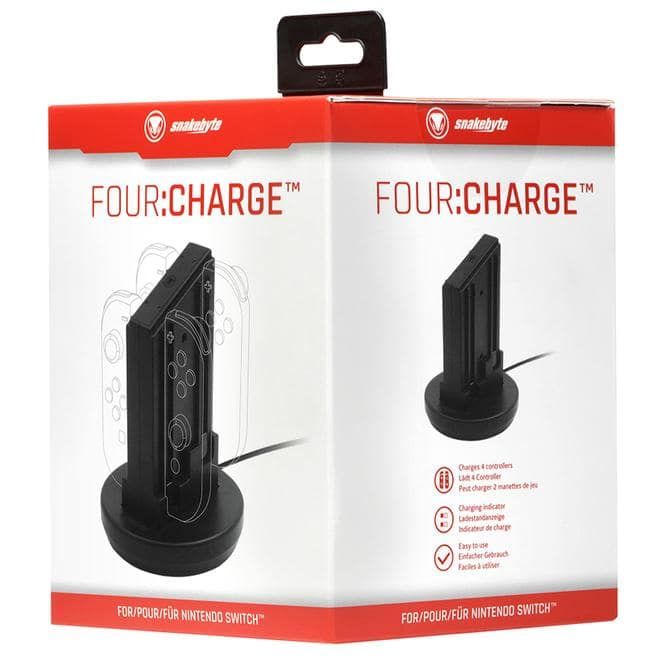 Four:Charge Ladestation Nintendo Switch Lite