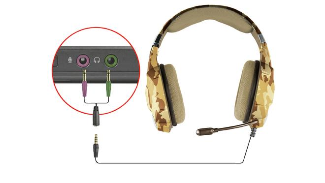 GXT 322D Carus Gaming-Headset - Desert Camo