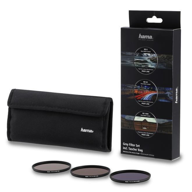 76900 Graufilter-Set ND8, ND64, ND1000, 62mm Schwarz