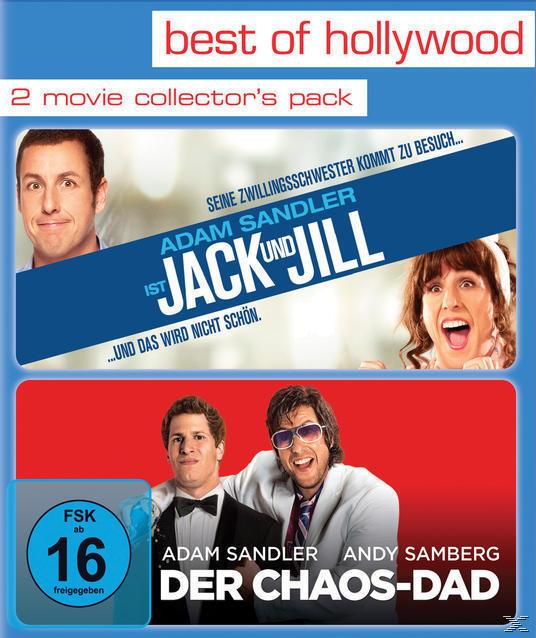 2 Movie Collector's Pack (Jack und Jill / Der Chaos-Dad) - 2 Disc Bluray (BLU-RAY) für 19,99 Euro