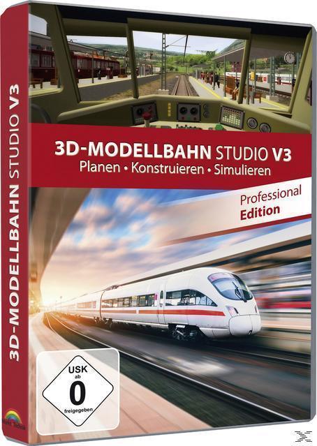 3D-Modellbahn Studio V3 - Professional Edition (PC) für 19,99 Euro