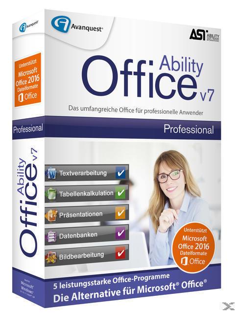 Ability Office 7 Professional (PC) für 49,99 Euro