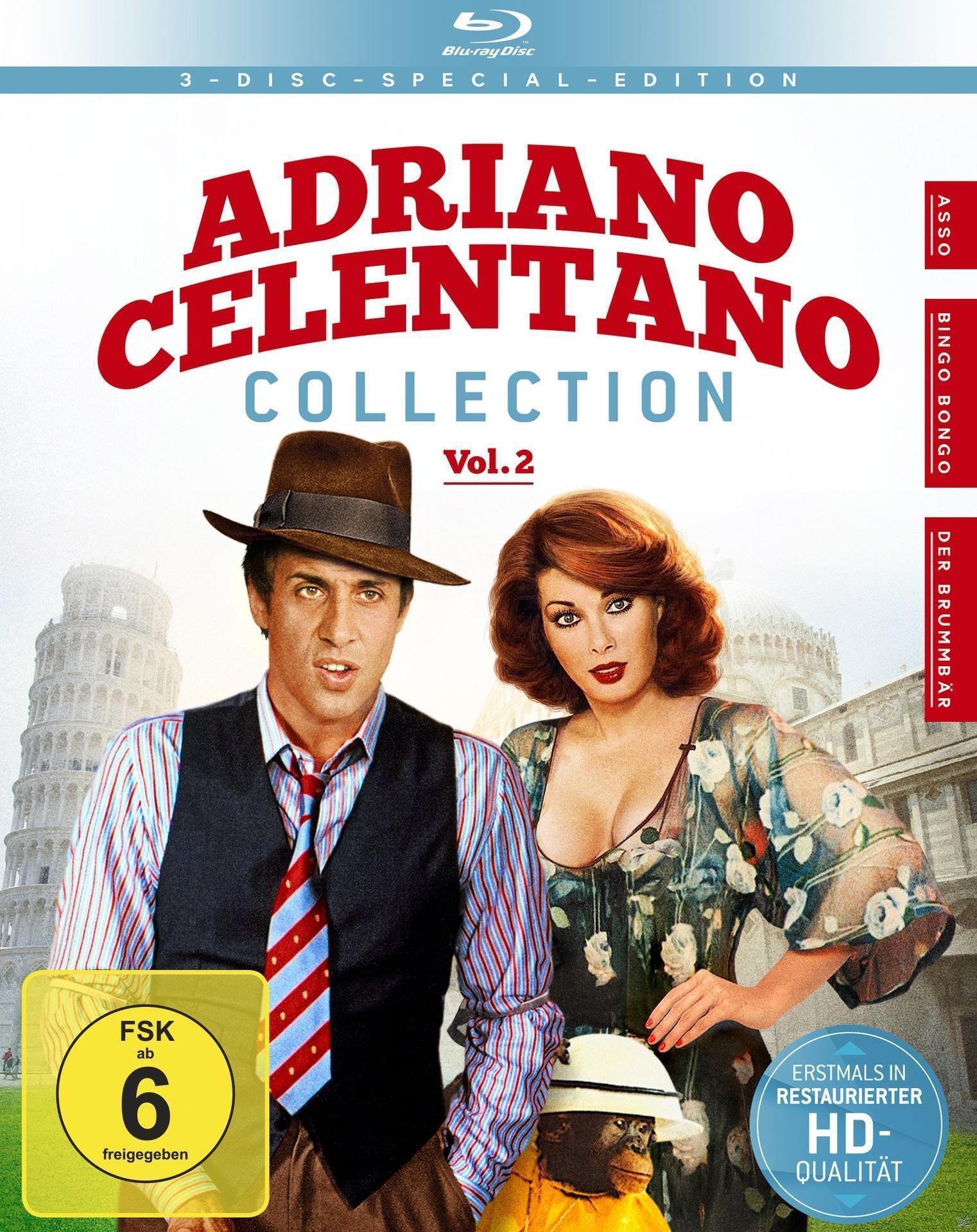 Adriano Celentano - Collection Vol. 2: Asso, Bingo Bongo, Der Brummbär Bluray Box (BLU-RAY) für 28,99 Euro