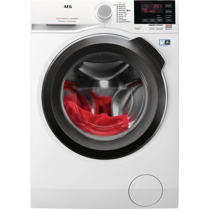 AEG L6FB64479 Waschmaschine 7kg 1400 U/min A+++ Frontlader Aqua Control System für 479,00 Euro