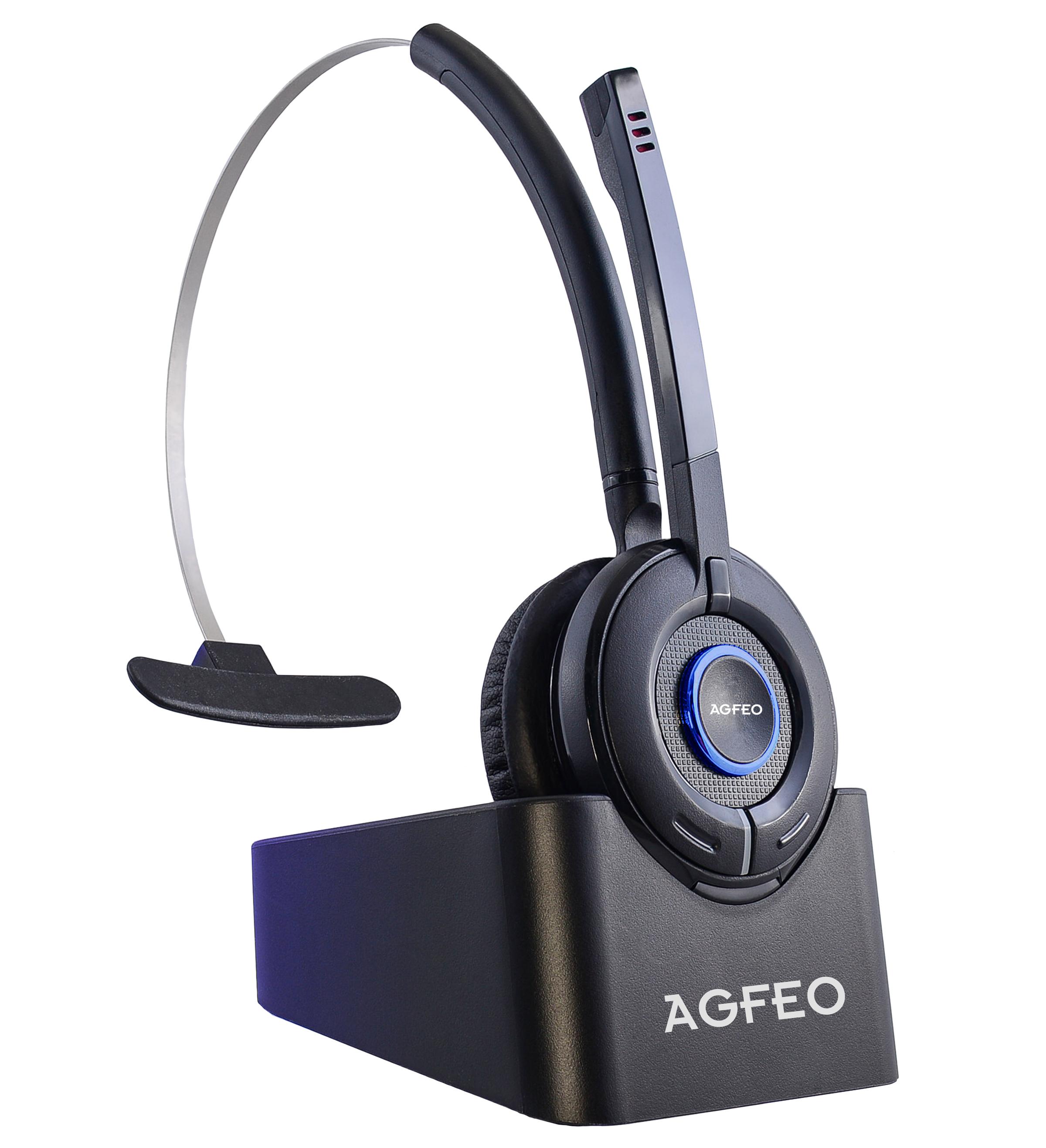 AGFEO DECT Headset IP an bis zu 10 Systemen anmeldbar Noise Reduction für 239,00 Euro
