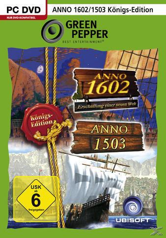 Anno 1503 Königsedition + Anno 1602 Königsedition (Green Pepper) (PC) für 6,99 Euro
