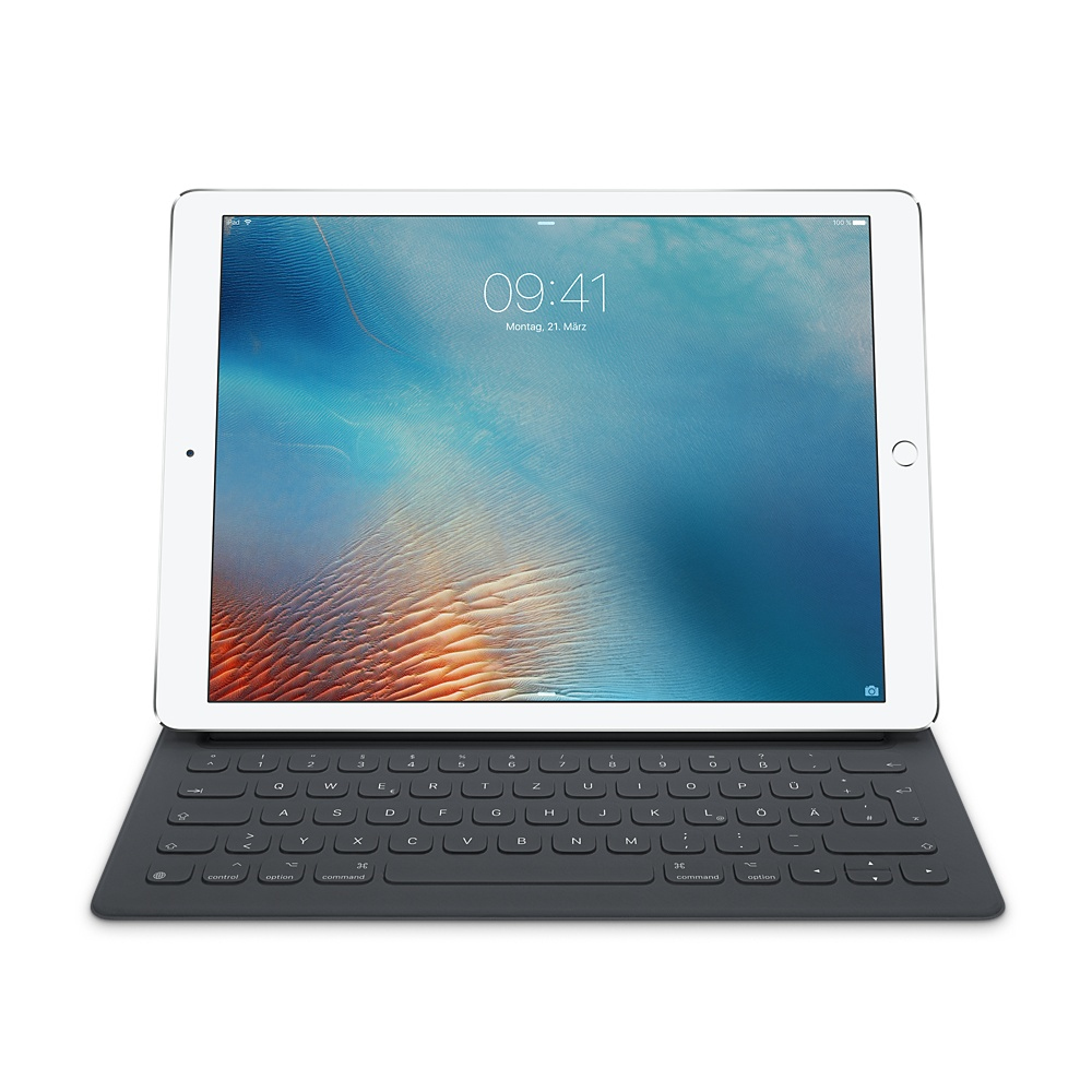 Apple MNKT2D/A iPad Pro Smart Keyboard 12.9'' deutsches Tastaturlayout für 173,99 Euro
