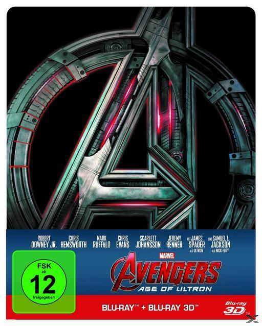 Avengers: Age of Ultron Steelcase Edition (BLU-RAY 3D/2D) für 28,99 Euro