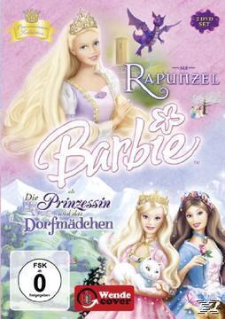 Barbie Märchen Box: Barbie als Rapunzel & Barbie als Die Prinzessin und das Dorfmädchen - 2 Disc DVD (DVD) für 12,99 Euro