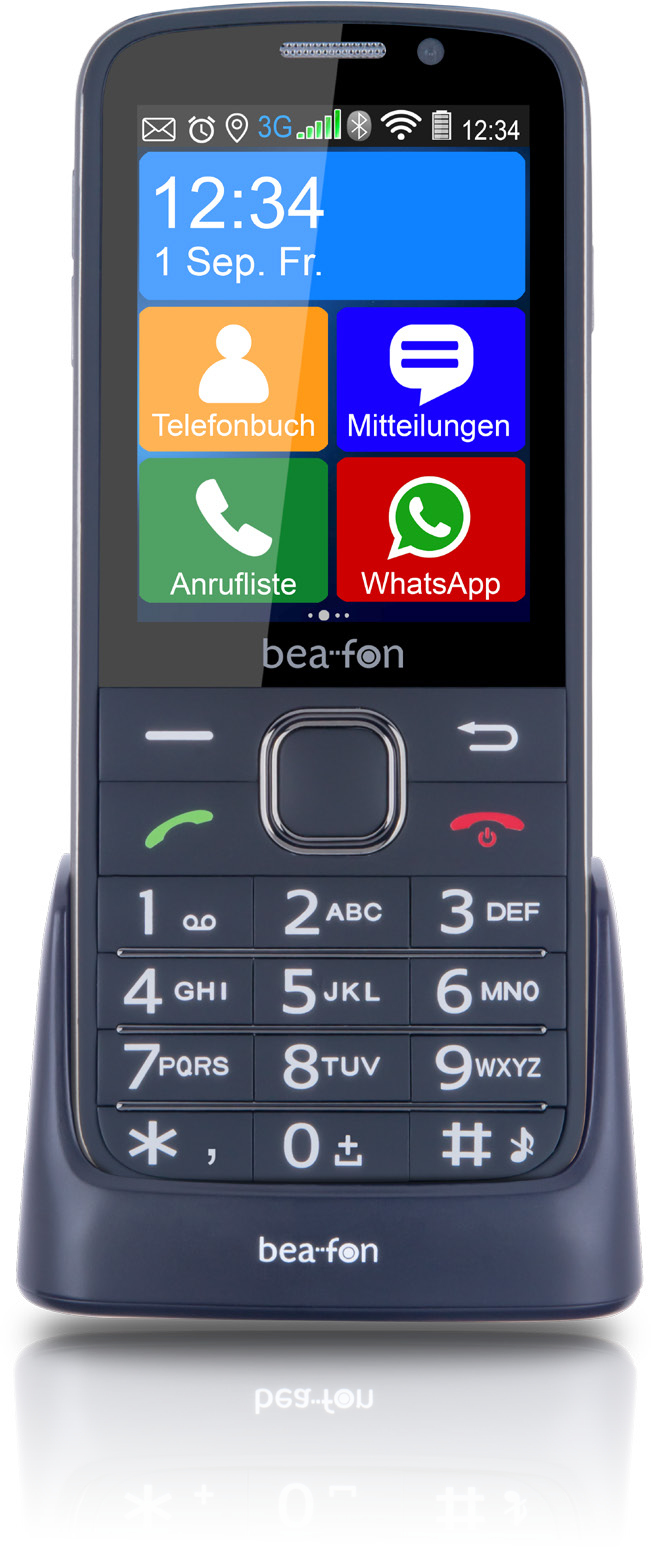 Beafon SL 820 Handy 7,1cm/2,8'' Touch-Display 5MP WLAN WhatsApp für 149,00 Euro