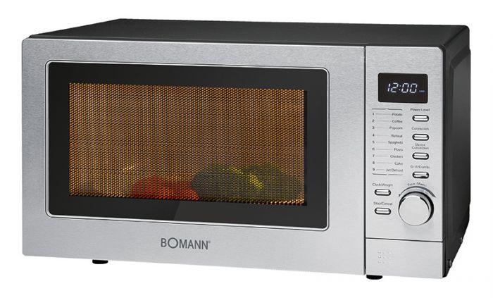 Bomann MWG 2285 H CB Mikrowelle/Grill/Heißluft 800/1350/1350W 20l 24,5cm für 114,90 Euro
