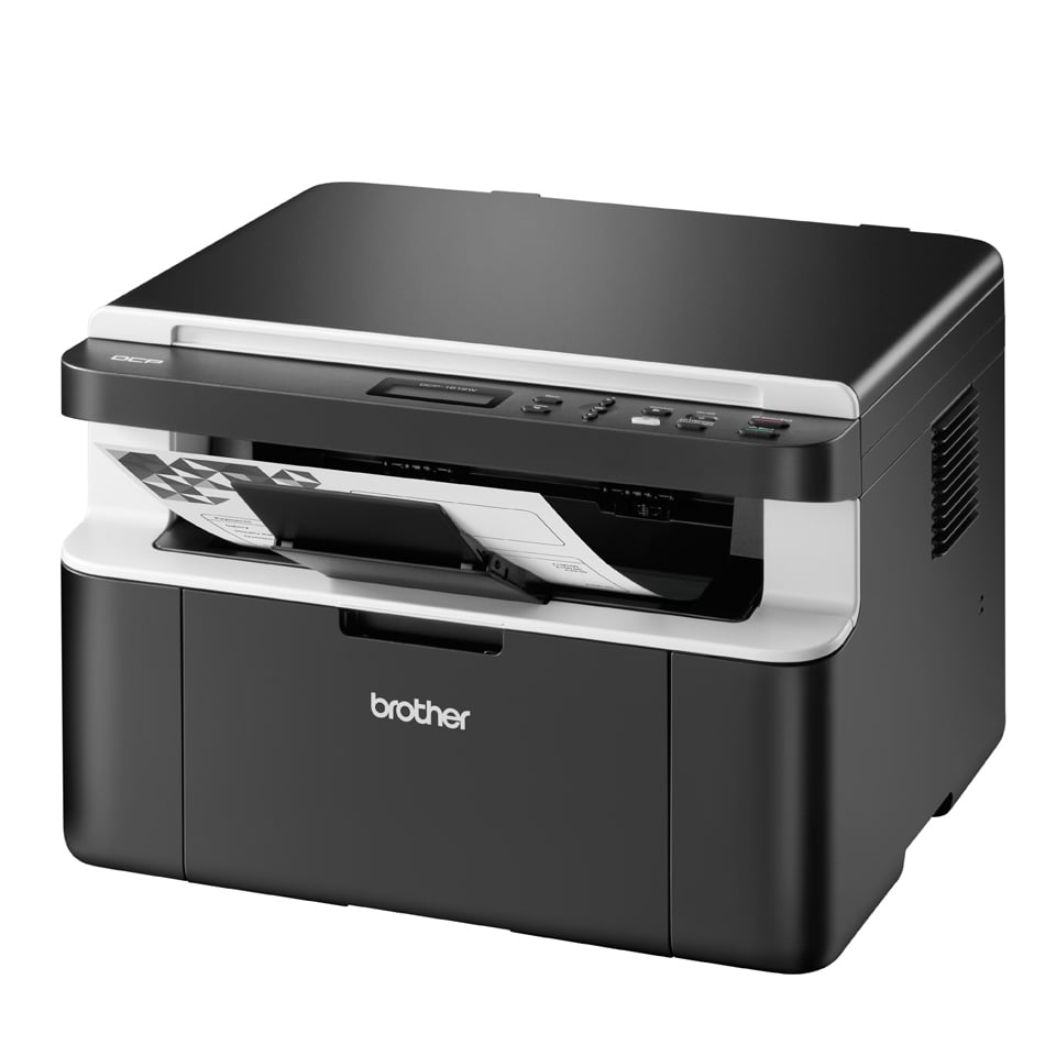 Brother DCP1612W Bundle inkl. 5 Tonerpatronen Multifunktionsdrucker (hellgrau,dunkelgrau / Laser / 3-in-1 / 2.400 x 600 dpi / USB, WLAN) für 189,00 Euro