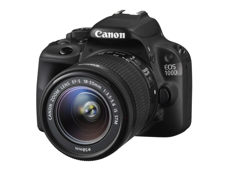Canon EOS 100D Digitalkamera 7,6cm/3'' 18MP Full-HD + EF-S 18-55mm IS STM  für 399,00 Euro