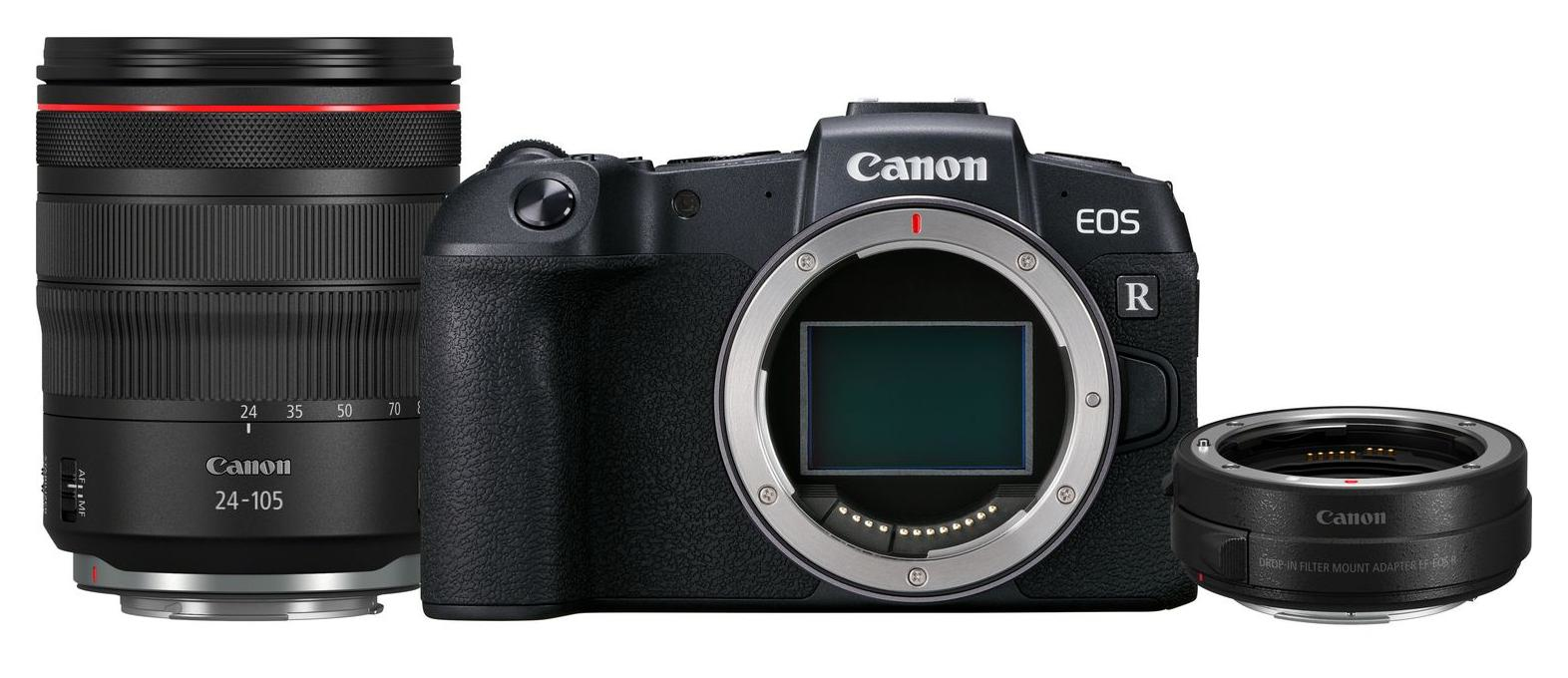 Canon EOS EOS RP Body + RF 24-105mm f/4L IS USM lens + Mount Adapter EF-EOS R für 2.499,00 Euro